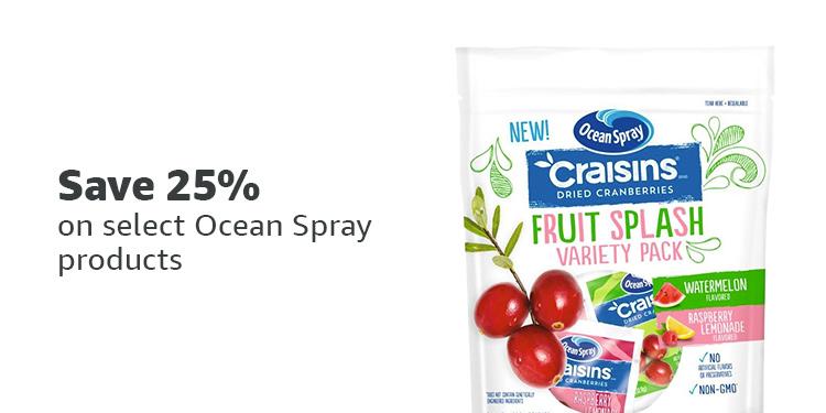 Save 25% on Ocean Spray
