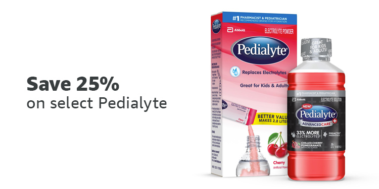 Save 25% on Pedialyte