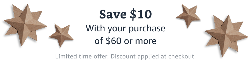 Save $10 off orders $60+