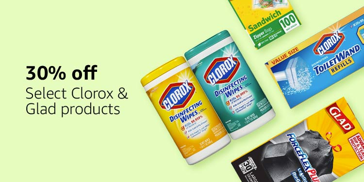30% off select Clorox & Glad products