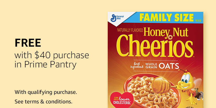 Free Honey Nut Cheerios with $40 purchase