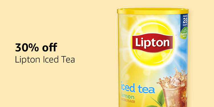 30% off Lipton Iced Tea
