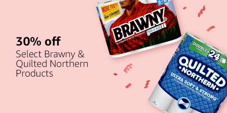 30% off select Brawny & Quilted Northern Products