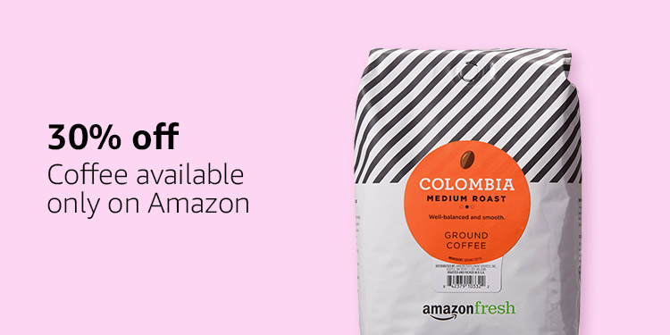30% off coffee available only on Amazon