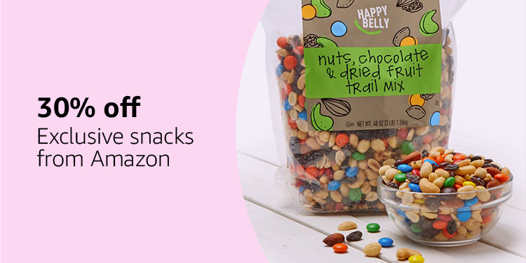 30% off exclusive snacks from Amazon