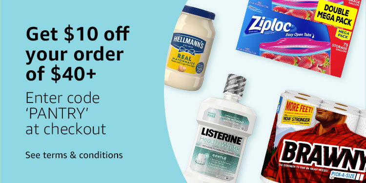 """Get $10 off $40 with code """"PANTRY"""""""