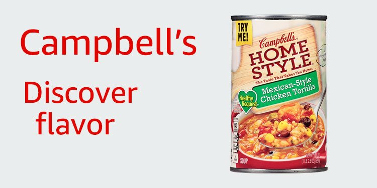 Discover flavor with Campbell's