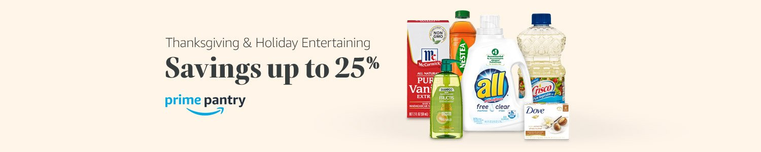 Savings up to 25% in Prime Pantry