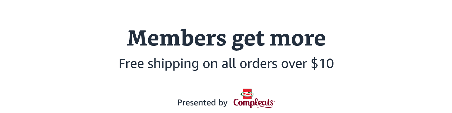 Members get free shipping on all orders $10 or more