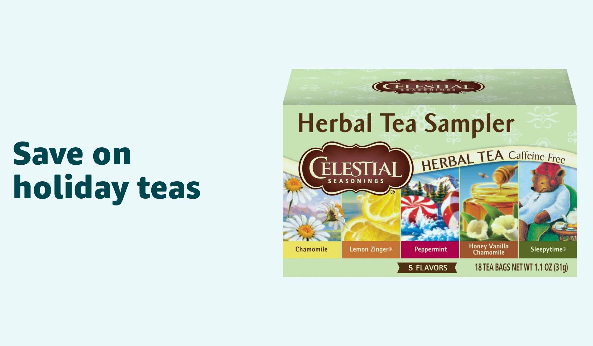Save on Holiday teas