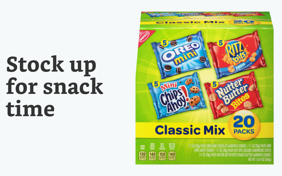 Stock up on snacks