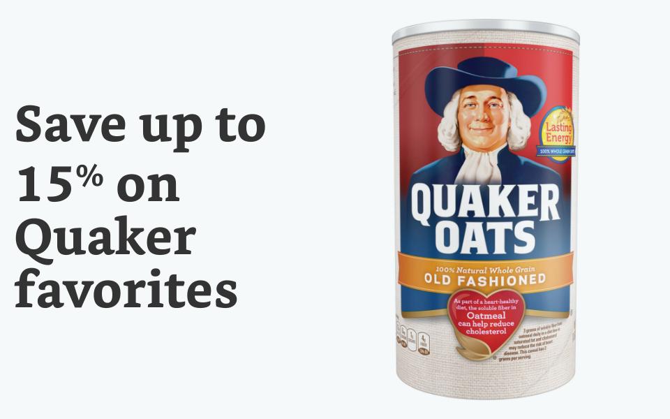 Save 15% on Quaker