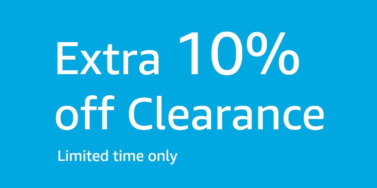 Take extra 10% off Clearance