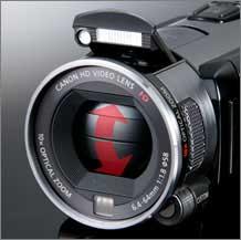 Canon VIXIA HFS10 camcorder highlights