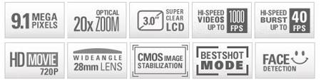 Casio FH20 highlights