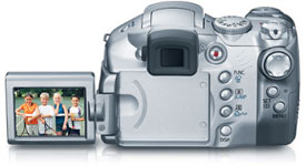 The Canon S2 IS's vari-angle LCD