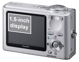 The Fujifilm F10's large LCD