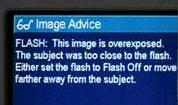In-camera photo advice