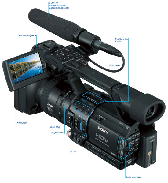 amazon com   sony professional hvr z u ccd high definition    see large image