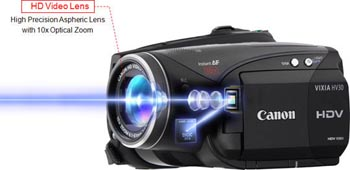 amazon com canon vixia hv30 minidv high definition camcorder with rh amazon com Canon HV30 Review Canon HV20