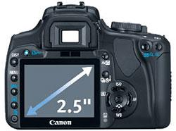Canon Rebel XTi 2.5-inch LCD