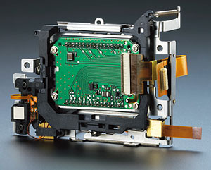 The Sony α DSLR-A100's CCD