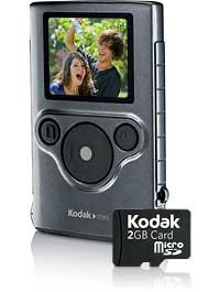 amazon com kodak mini video camera with sd card red flash rh amazon com Kodak Zi8 Camcorder Kodak Zi8 Camcorder
