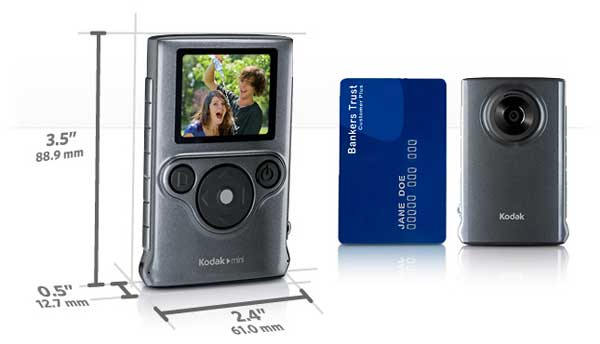amazon com kodak mini video camera with sd card grey flash rh amazon com Kodak Mini Video Camera Manual Kodak Mini Video Camera 2010