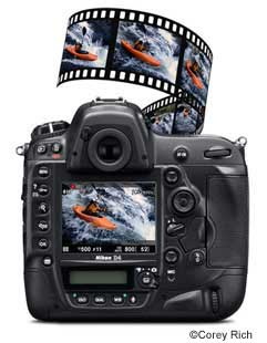 Full HD D-Movie (1080p) video formats: FX, DX or the new 2.7x Crop mode-all at 16:9 aspect ratio