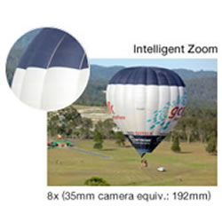 8X Intelligent Zoom capability of the Panasonic LUMIX DMC-FH10