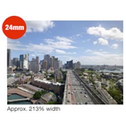 24mm Ultra Wide-Angle Lens capabilities of the Panasonic LUMIX DMC-XS1