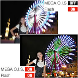 MEGA Optical Image Stabilizer capability of the Panasonic LUMIX DMC-FH10