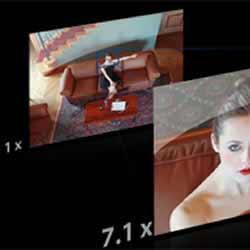 7.1x Panasonic LUMIX DMC-LF1 digital camera's optical zoom and LEICA lens