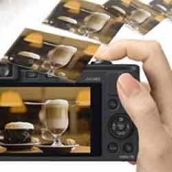 The Instant Tranfer feature of the Panasonic LUMIX DMC-LF1  digital camera