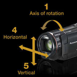 5 axis adjustment and advanced shooting features of the Panasonic HC-X920 HD Video Camcorder