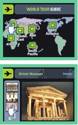 The Samsung Digimax's World Tour Guide function