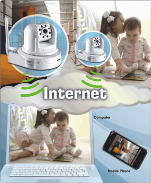 Amazon.com : TRENDnet Wireless Day/Night Pan/Tilt/Zoom Internet