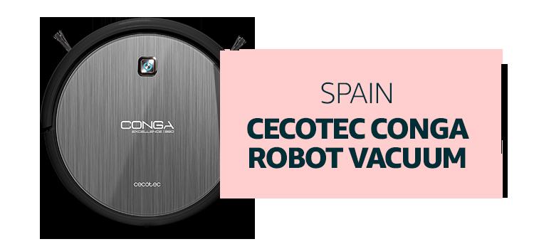 Spain - Cecotec Conga Robot Vacuum