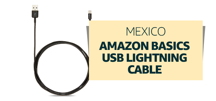 Mexico - Amazon Basics USB Lightning Cable