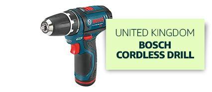 United Kingdom: Bosch Cordless Drill