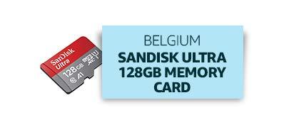 Belgium: Sandisk Ultra 128GB Memory Card