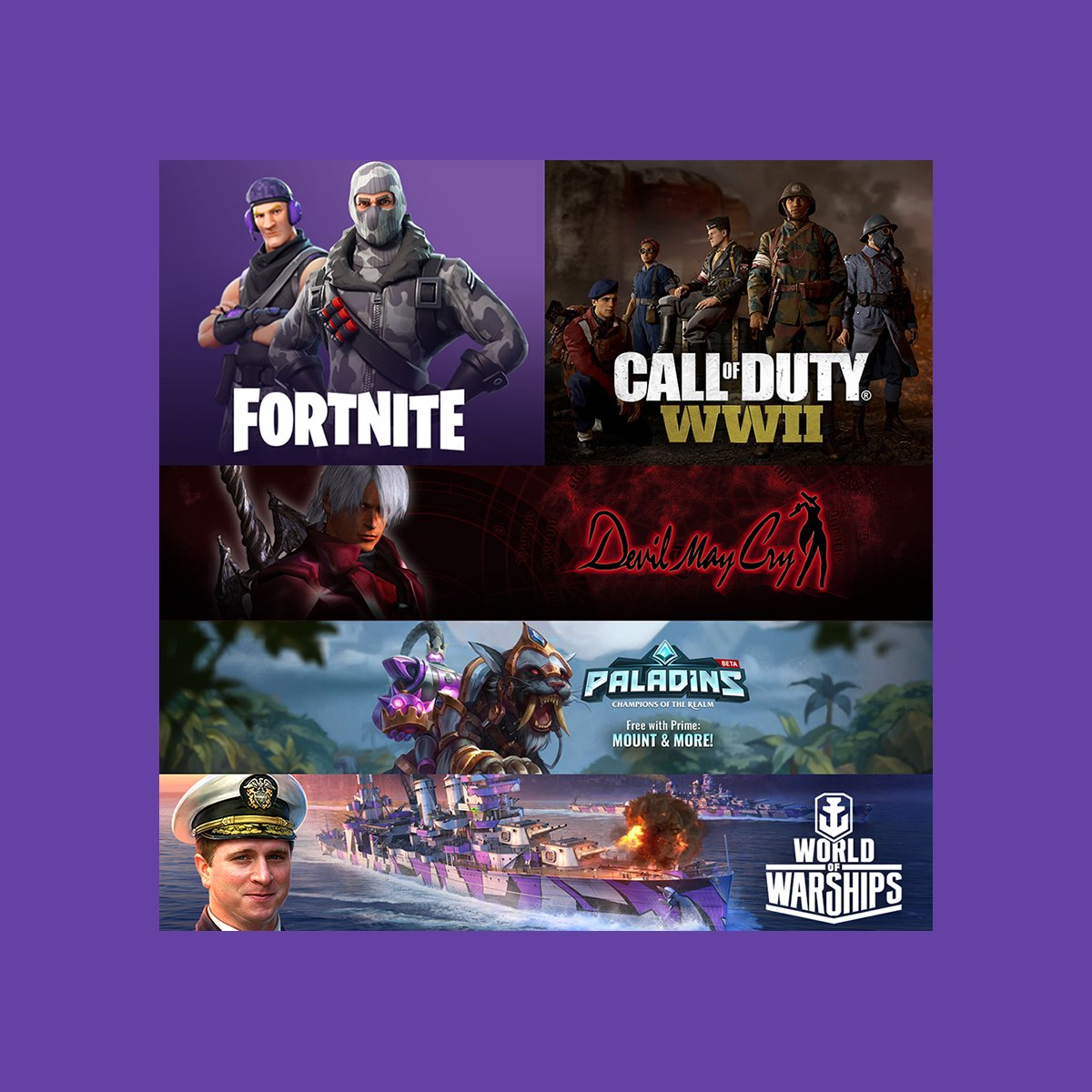 Twitch Prime: New in-game loot for Prime members