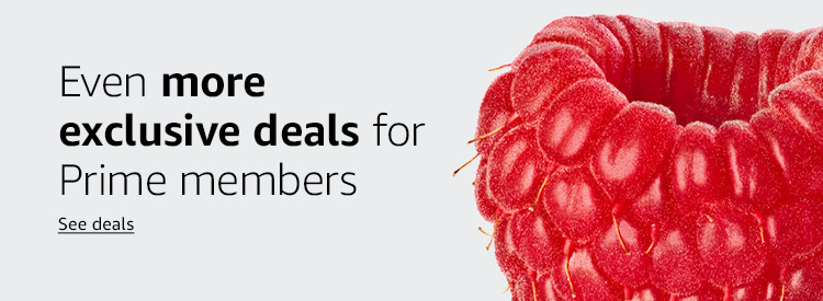 Even more exclusive deals for Prime members Shop now
