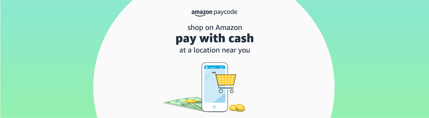 Shop on Amazon, pay with cash