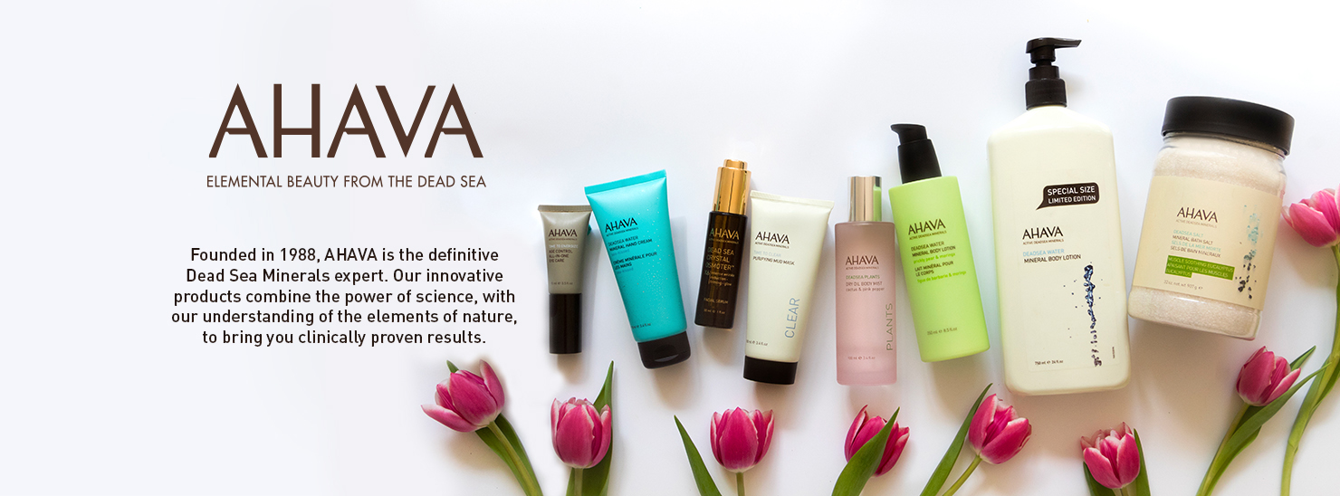 explore the full line of Ahava Skin Care Products at Beautybar.com