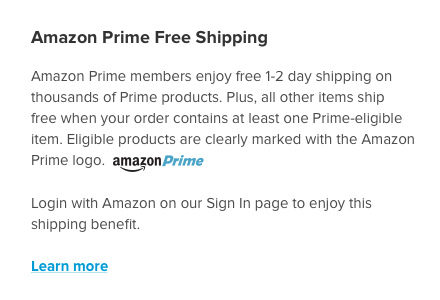 Amazon Prime Shipping