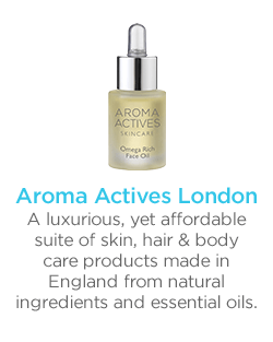 AROMA ACTIVES LONDON A luxurious, yet affordable suite of skin, hair & body care products made in England from natural ingredients and essential oils.