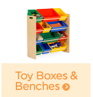 toy boxes and benches