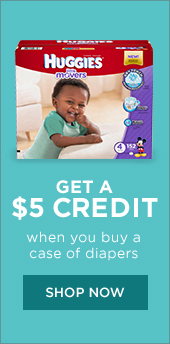 Get $5 Credit When You Buy a Case of Huggies!