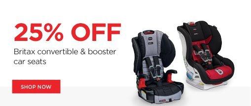 25% off britax convertible & booster car seats. shop now!